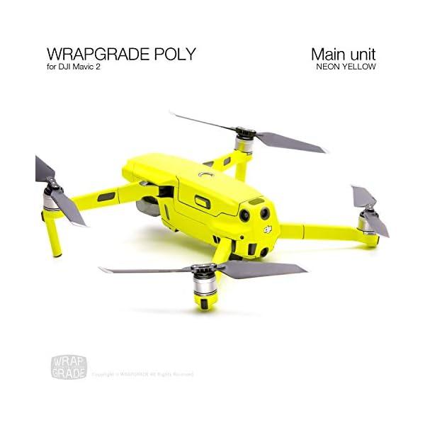 WRAPGRADE Skin Compatibile con DJI Mavic 2 unità Principale (Neon Yellow) 3 spesavip