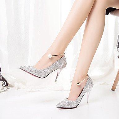 Otoño Formales La Talón Noche Primavera US6 3A Ruby Formales Boda amp;Amp; De Plata Pearl Vestido EU37 Zapatos 3 4 Stiletto Mujer Pulg Zapatos 5 Oro UK4 5 3 Glitter 7 CN37 Tacones 5 qtYtWr
