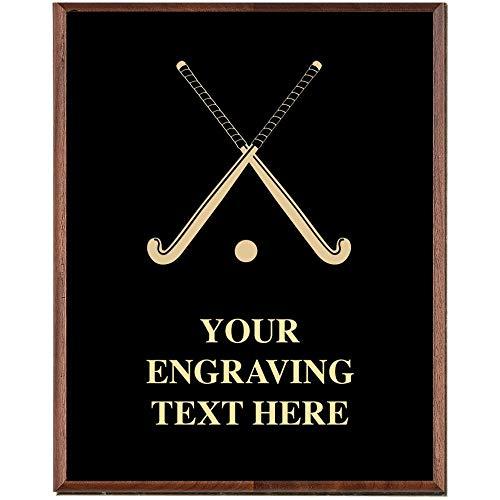 Award Field Plaque - Crown Awards Field Hockey Plaques, Custom Engraved Field Hockey Trophy Plaque Award, Great Customizable Field Hockey Team Gift Prime