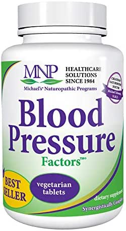 Michael's Naturopathic Programs Blood Pressure Factors - 90 Vegetarian Tablets - Fluid Balance Support, Nourishes Cardiovascular & Nervous Systems - Gluten Free, Kosher - 30 Servings