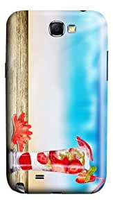 wholesale cases Strawberry Cocktail PC case/cover for samsung galaxy N7100/2