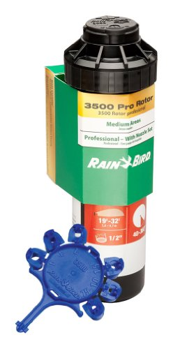 (Rain Bird CP3504PC Pro Rotor with Rain Curtain Nozzle Set, 40° - 360° Pattern, 15' - 35' Spray Distance)