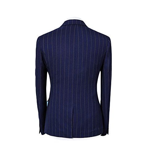 WEEN CHARM Men 3 Pieces Two Button Slim Fit Notch Lapel Suit Jacket Vest & Trousers Set by WEEN CHARM (Image #2)
