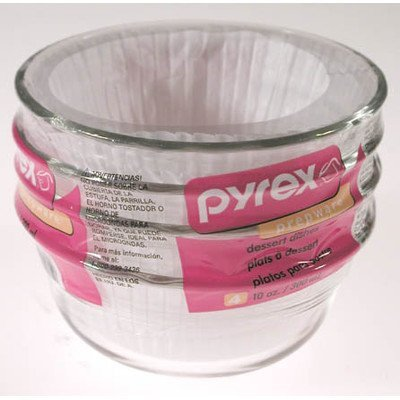 - Pyrex Bakeware 10-Ounce Custard Cups Dessert Dish (Set of 4)