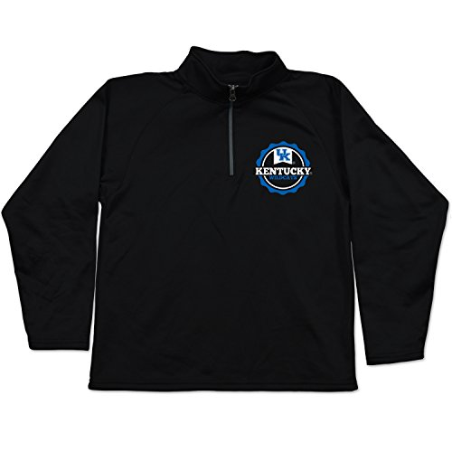 NCAA Kentucky Wildcats Youth Relay Quarter Zip Fleece, Size 8-10 /Small, Black
