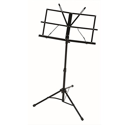 LEORX Adjustable Folding Music Stand + Carrying Bag (Black) by LEORX