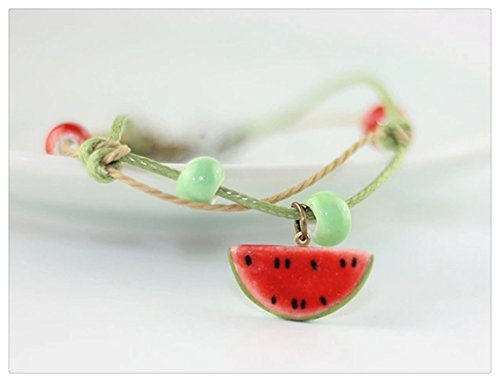 Happiness Jewelry Handmade Fashion Charm Adjustable Ceramic Fruit Design Porcelain Bracelet - Class First Is Long Usps How