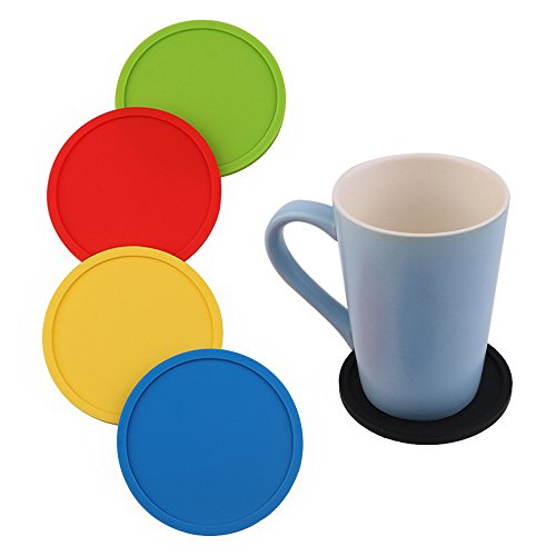 Silicone Drink Coasters Good Grips Cup pad Set Protect Your Furniture From (Small Trivet)