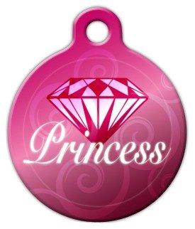 Princess Pet Tag (Diamond Princess - Custom Pet ID Tag for Dogs and Cats - Dog Tag Art - LARGE SIZE)