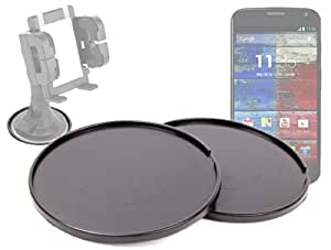 DURAGADGET Pack De Discos Base Para Cualquier Soporte De 7 Cm Para Motorola Moto X - ¡Contiene 2 Unidades!¡Pruebe nuestro soporte!