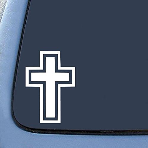 [해외]기독교 십자가 스티커 데 칼 노트북 자동차 6 (흰색)/Christian Cross Sticker Decal Notebook Car Laptop 6  (White)