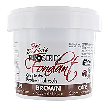 Fat Daddio's Rolled Fondant Icing Brown 5 Pounds