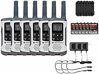 Motorola T260 Rechargeable Two-Way Radios Walkie Talkies 6-PACK Brand New Sealed