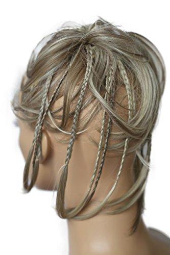 PRETTYSHOP Hairpiece Hair Rubber Scrunchie Scrunchy Updos VOLUMINOUS Wavy Messy Bun dirty blonde mix #18TH613A G25D