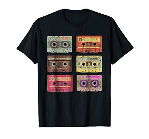 Audio Cassette Tape T-Shirt Funny Vintage Retro 80s