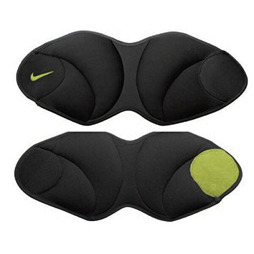 Nike Unisex Nike Ankle Weights 5 Pound Black/Volt One Size by NIKE