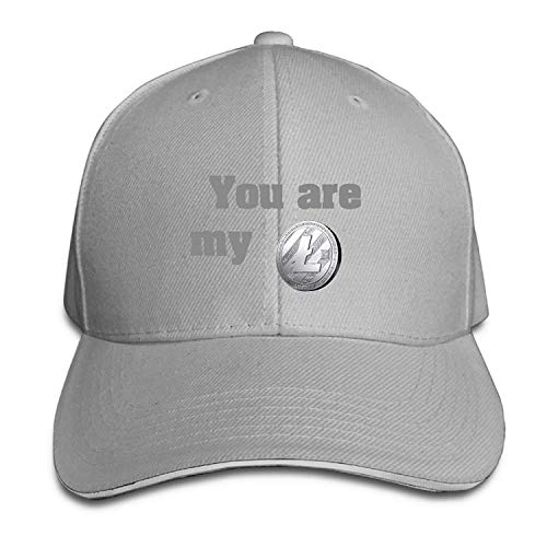 You are My Litecoin Peaked Cap 100% Cotton Adjustable Size,Adult.