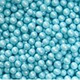 Blue Edible Sugar Pearls Dragees Decoration Balls 2 Ounces by Lucks