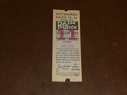 1940'S PITTSBURGH PIRATES FORBES FIELD BASEBALL TICKET NR MINT - Forbes Baseball Field