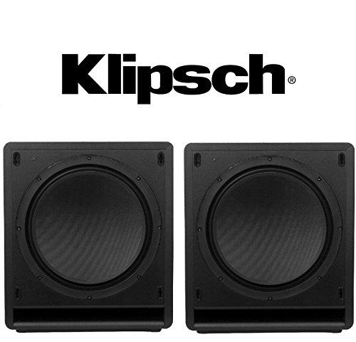 1 Pair (2 pieces) Klipsch SW-110 Subwoofer System – 200 W RMS – Black Bundle