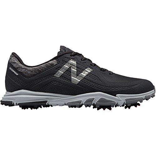 New Balance Men's Minimus Tour Waterproof Spiked Comfort Golf Shoe, Black, 10 D D US