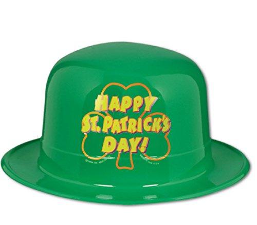 Plastic Happy St Patrick's Day Derby (Patricks Day Derby Hat)