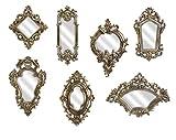 Imax 52977-7 Loletta Victorian Inspired Mirrors - Set of 7, Silver