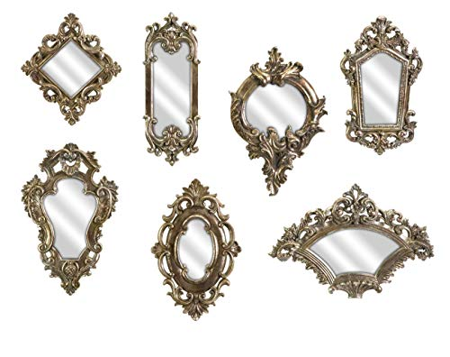 Imax 52977-7 Loletta Victorian Inspired Mirrors – Set of 7, Silver