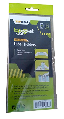 Self Adhesive Label Holder with Blank Insert, 2 sizes, 27 piece Bundle by WalkDisLife Top Pocket (Image #4)