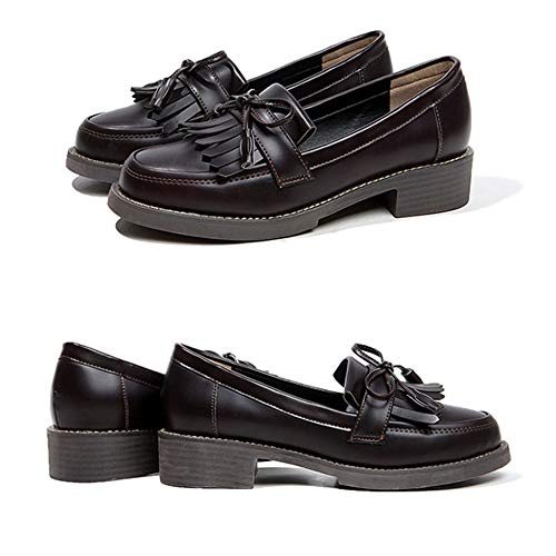 Las Mujeres Señoras Zapatos Trabajo De Borla Mocasines Oficina Confort Red Conducción Mocasín Planos EgUqWwO