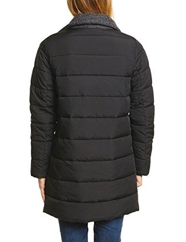 One Street Schwarz 20001 Femme rmeln Black Manteau Mit Wollmantel Wattierten FZZdAgq