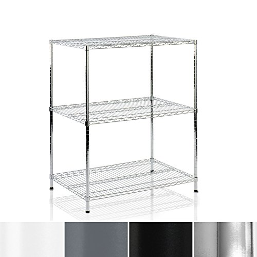 Casa Pura Metal Storage Shelves   Wire Shelving Organizer For Kitchen  Garage Or Bathroom   Steel   3 Tier   24 X14 X36    Multiple Sizes  Tiers And Colors