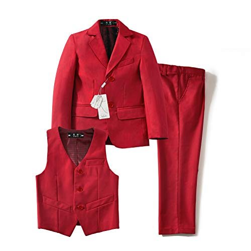 Yuanlu Toddler Tuxedo Suits for Boys with Coat