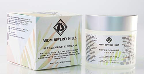 ASDM Beverly Hills Tepezcohuite Cream 4oz/120ml Natural Skin Scar, Burn, Abrasion and Eczema Healing Moisturizer with Anti-aging Properties and Fungicide ()