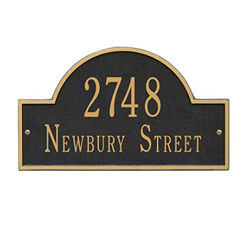 Metal Address Plaque Personalized Cast with Arch top (Large Option). Display Your Address and Street Name. Custom House Number Sign. by Metal Address Plaque