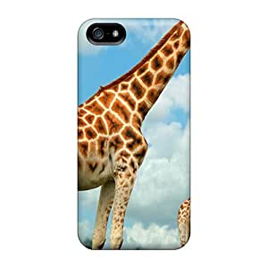 Hot MVg25439vkpp Cases Covers Protector For Iphone 5/5s- Family Giraffes Animals Black Friday