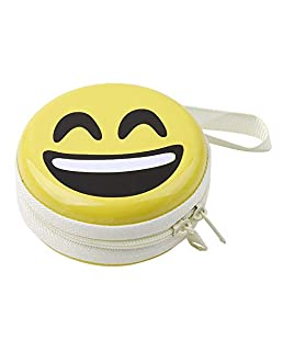 Humble LOL Emoji Character Multi Purpose Cute Tin Plate Case for Earphones, Pen Drives, SD Memory Cards, Keys, Coins Metallic, 7 cm (Small)