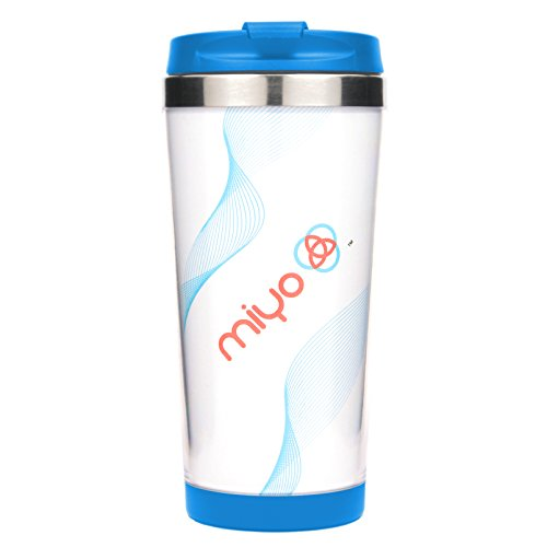 MIYO (Make It Your Own) Insulated Stainless Steel DIY Tumbler, 16oz, Blue