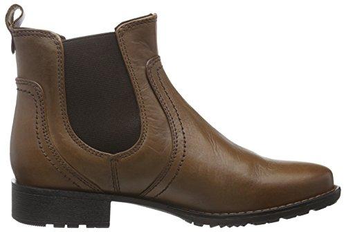 Jana Women's 25414 Chelsea Boots, Black, 4 Braun (Cognac 305)