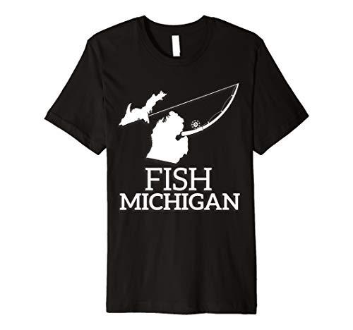 Michigan Fishing Shirt Funny Fisherman Tee Fish Angler Gift