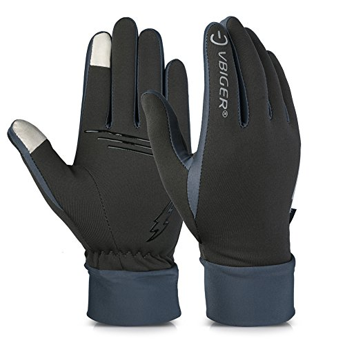 Vbiger Winter Gloves Touch Screen Gloves Outdoor Cycling Gloves For Men And Women (Grey 2, S)