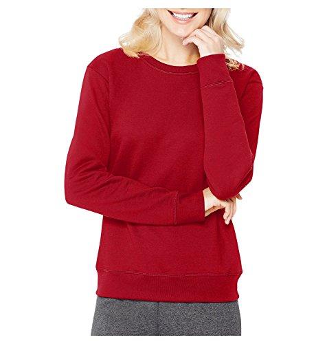 Hanes Red Sweatshirt (Hanes ComfortBlend Women's Sweatshirt, Soft Sweats EcoSmart, Classic Red, Large)