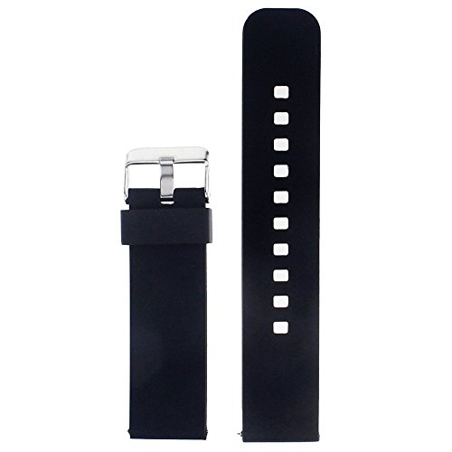 Pebble Time Watch Band?AWINNER Strap for Pebble Time Smartwatch Band Replacement Accessories with Metal Clasps Watch Strap/Wristband Siliconed Replace with This Pebble Time Bands adaptors (Black)