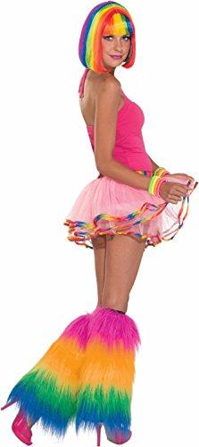 Forum Rainbow Plush Leg Warmers, Multi, Standard