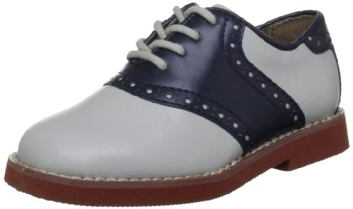 Florsheim Kids Kennett JR Saddle Shoe (Toddler/Little Kid/Big Kid), Bone/Navy, 13 M US Little Kid