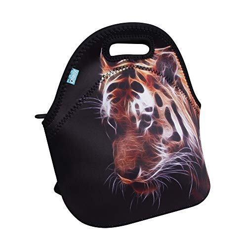 Lunch Tote, OFEILY Lunch boxes Lunch bags with Fine Neoprene Material Waterproof Picnic Lunch Bag Mom Bag (Tiger)
