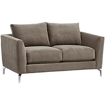 Amazon Com Rivet Emerly Modern Velvet Metal Leg Sofa 63