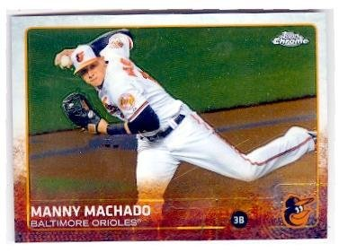 Manny Machado baseball card (Baltimore Orioles All Star) 2015 Topps Chrome #42 by Autograph Warehouse