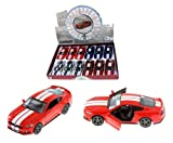 New 1:38 KINSMART DISPLAY - RED COLOR 2015 FORD MUSTANG GT WITH STRIPES Diecast Model Car By KINSMART