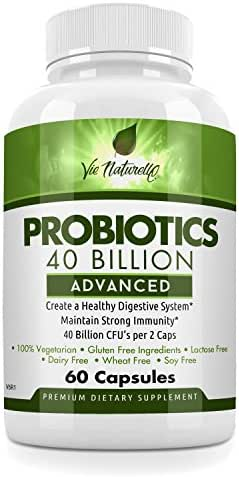Probiotics for Men and Women - Advanced Acidophilus Probiotic Vegan Friendly Supplement (60 Capsules) - 40 Billion CFU Digestive Support for Intestinal Health, Immune System Boost & Weight Loss …